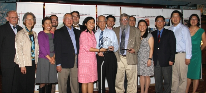 Board members with 2015 Sojourner Award Recipients Arthur Wong and Gary Libby at the 2015 Annual Meeting and Dinner Banquet