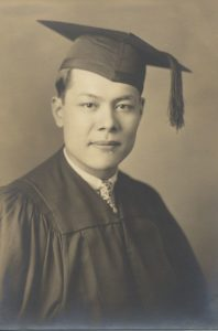 Harry Hom Dow graduates from Suffolk Law School, 1929, Moakley Archive & Institute