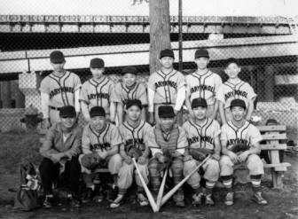 The Maryknoll Sisters Center organized a baseball team for a new generation of Chinatown youth in the late 1950s. (CHSNE collection)